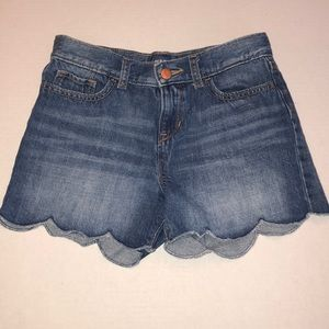 Old Navy Denim Jean Scallop Edge Shorts Size 12